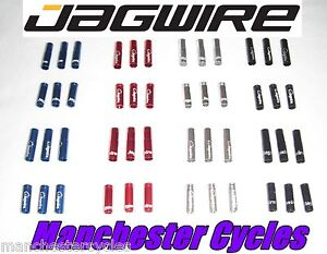 New Jagwire 4mm Bike Gear Cable Alloy Ferrules Crimps red black blue or silver