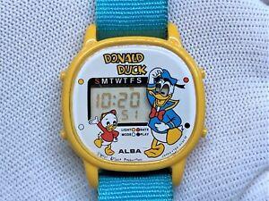 SEIKO Alba Limited Animetime Donald Duck Disney Game Wristwatch Watch Y754-4000