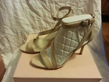 Womens BCBGeneration BG-Diego Nude Blush Clear Kid High Heel Shoes size 8