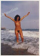 Nudismo Desnudo mujer en el SURF / desnudo en el surf * años 70 foto 1