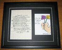THE BEATLES John Lennon IN MY LIFE Hand Written Framed Lyrics PRESENTATION