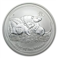 Perth Mint Australia 2008 Lunar Mouse 1 oz .999 Silver Coin