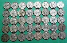 1- FULL MIXED ROLL OF 40 WASHINGTON SILVER QUARTERS. $10.00 FACE VALUE. #18