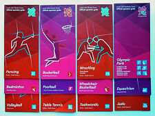 LONDON 2012 OLYMPIC GAMES MEMORABILIA - Collection of 12 Spectator Guides
