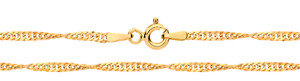 9CT GOLD CHAIN 18 inch SINGAPORE 9 CARAT YELLOW GOLD NECKLACE HALLMARKED NEW