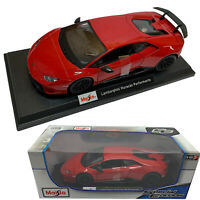Diecast Cars Maisto Lamborghini Huracan Performante 1:18 Red Vehicle Collectors