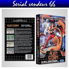 "BOX, CASE ""ALIEN STORM"" . Megadrive. BOX + COVER PRINTED. NO GAME. MULTILINGUAL."