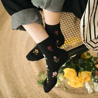 Korean Retro Rose Autumn Winter Cotton Cute Socks Casual Socks Warm Women/