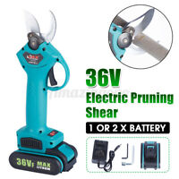 36V Rechargeable Cordless Electric Garden Branch Cutter Pruning Shears Secateur