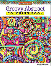Groovy Abstract Coloring Book By McArdle Thaneeya Paperback