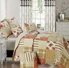 Quilted Patchwork Bedspread Throw Comforter Single Double King & Super King Size