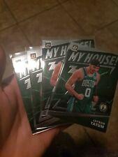 (4) 2019-20 Donruss Optic JAYSON TATUM  MY HOUSE Boston Celtics Lot of 4 Celtics