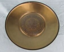 Vintage Ashtray Coin Tray Dish United States Congress Glass Lined Heavy Brass