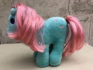 Hasbro Softies My Little Pony Turquoise Pink Bow Tie Toy Plush Vintage Retro 80