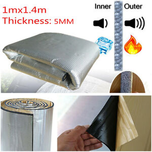 Car Truck Door Hood Bonnet Heat Sound Proof Insulation Deadener Mat 1x 1.4m 5mm