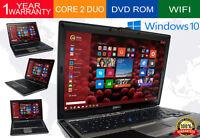 Dell Computer Laptop Latitude Windows 10 PC Core 2 Duo 80GB HDD DVD WIFI Win 10