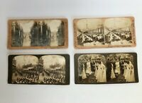 4 VUES PHOTOS STEREOSCOPIQUES HC WHITE CO THE PERFECT STEREOGRAPH 1903 G623