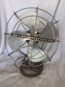 "Vintage 1950's Westinghouse 10"" Electric Fan Art Deco, Beige color Runs Smoothly"