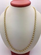 "New Solid 14K Yellow Gold 18"" Diamond Cut Rope Chain Necklace 9.3 grams 2.1 mm"