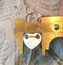 $299 Tiffany & Co. 925 Sterling silver 16 inch heart pendant choker necklace