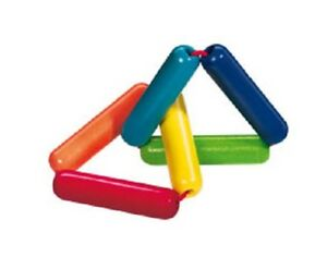 New HABA Triangle Wooden Baby Clutching Toy manipulative rattle teether Germany