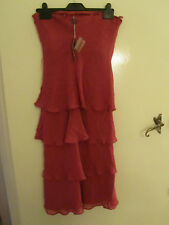 Debut Pink Silk Tiered Special Occasion Dress in Size 6 - 8 - unused & imperfect