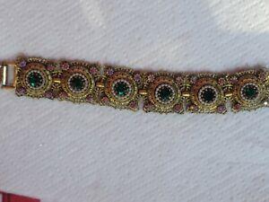 Vintage  Art Deco Rhinestone Bracelet