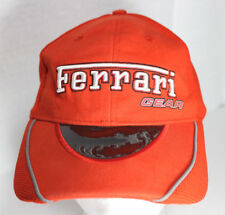 Red Ferrari Gear Baseball Tinted Visor Hat Cap Adjustable Strapback Italy 3D Emb