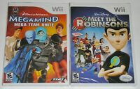 Nintendo Wii Game Lot - Megamind (New) Disney Meet the Robinsons (New)