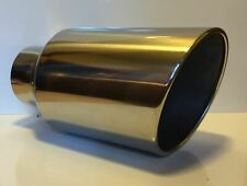 "STAINLESS 5"" INLET 8"" OUTLET 18"" LONG DIESEL EXHAUST TIP FORD DODGE CHEVY"