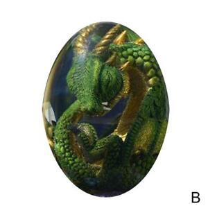 1PC Glowing Lava Dragon Egg Resin Sculpture Desktop Decoration