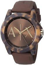 Armani Exchange Women's AX4341 'Active' Tortoise AX Logo Brown Silicone Watch