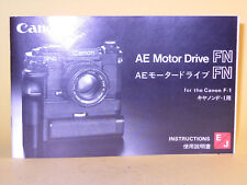 Original(!) Canon AE Motor Drive FN Instruction Manual!