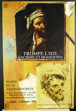 Trompes l'oeil anciens et modernes Paris novembre 1985 Affiche d'exposition