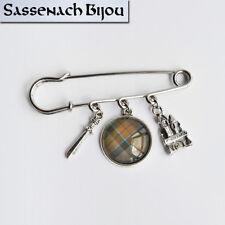 Clan Mackenzie Kilt Pin - Scottish Tartan Brooch - Outlander Sassenach Jewelry