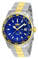 Invicta Men's Watch Pro Diver Blue Dial Two Tone Stainless Steel Bracelet 25826