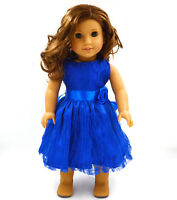 "Hot~ Fits 18""  inch Doll 43cm Baby Dolls Handmade fashion Doll Clothes dress"