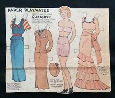 Paper Playmates, Sunday Funnies Paper Doll, 1935, Uncut Newspaper Section, Rare!