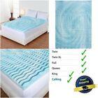 3 Inch Cooling Gel Foam Mattress Topper Pad Bed Cushion 5 Zone Orthopedic Firm