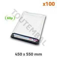 Enveloppe plastique blanc et noir opaque 60µ 450 x 550 mm (par 100)