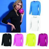 AWDis Just Cool Girlie Long Sleeve Cool T-Shirt - Women gym/sports/running tee