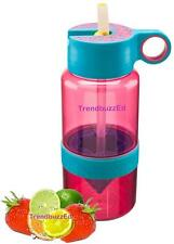 PINK Kid Zinger Water Bottle WITH Straw Citrus Zinger for Kids Zing Anything