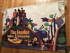 Rare The Beatles Yellow Submarine 1968 Promo Movie Poster