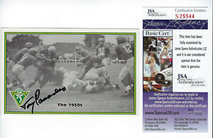 PACKERS Tony Canadeo signed Archives postcard JSA COA AUTO Autographed Green Bay