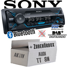 Sony Autoradio für Audi TT 8N Aktiv DAB+/Bluetooth/MP3/USB Auto KFZ Einbauset