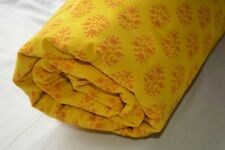 2.5 Yard Indian Floral Print Hand Block Jaipuri Fabric 100% Cotton