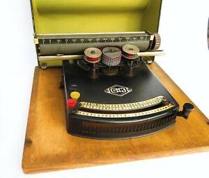 Vintage 1920s Gundka German Typewriter Schreibmaschine G & K - Antique With Case