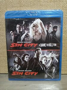 Sin City / Sin City: A Dame to Kill For (Blu-Ray) Double Feature.BRAND NEW.OOP.