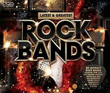 Latest & Greatest Rock Bands - 3 DISC SET - Latest & Greatest Ro (2016, CD NEUF)