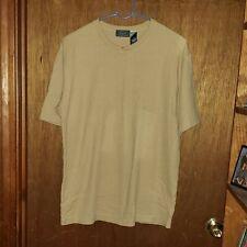 Mens Claiborne Crazy Horse Mustard T-Shirt - Size Medium